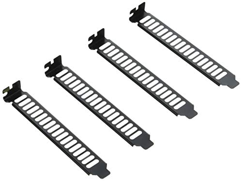 SilverStone SST-Aeroslots-BP - Placa ventilada para cubrir zócalo PCI, pack de 4, negro