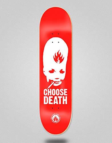 lordofbrands Black Label Monopatín Skate Skateboard Deck Choose Death 8.75