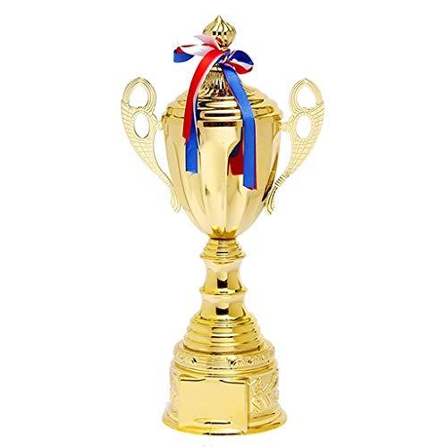 HFJKD Trofeo, Trofeo de Competencia Deportiva Juego de Baloncesto Medalla de Honor Trofeo de MVP Creativo Premio de Competencia de Juego, Oro, 10 * 36 cm