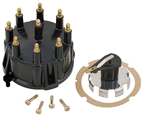 Thunderbolt Distributor Cap and Trigger Wheel Rotor Kit with Gasket and Screws for Mercruiser 5.0, 5.7, 7.4, 8.2 V8 Engines