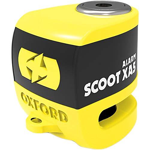 Oxford SCOOT XA5 Alarma Disco Cerradura (5mm pin) AMARILLO