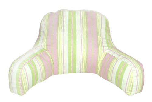 Greendale Home Fashions Bed Rest Pillow, Terrace, Baby Pink