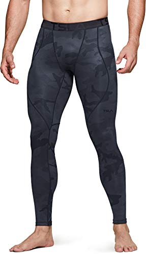 TSLA DRST Men's Thermal Compression Pants, Athletic Sports Leggings & Running Tights, Wintergear Base Layer Bottoms, Unique(yup43) - Olive, Medium
