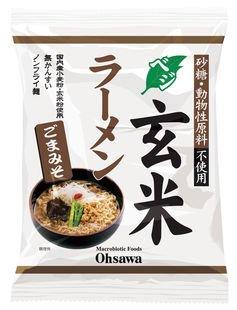 オーサワ ベジ玄米ラーメン(ごまみそ)119g(うち麺80g)×2個                  JANコード:4932828066882