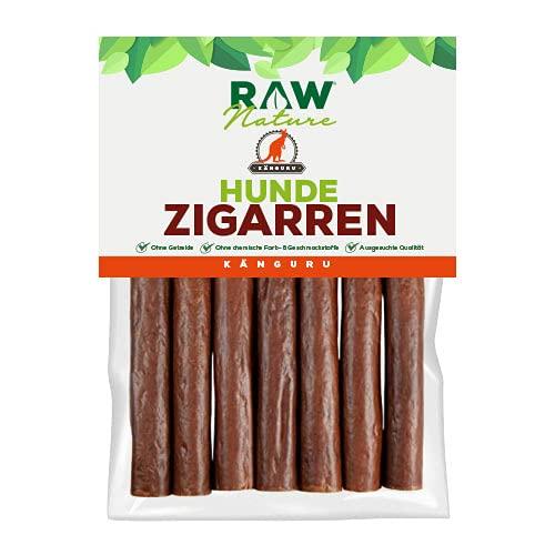 RAW Nature Hunde-Zigarre | natürliches Hundesnack | Monoprotein Leckerlie | 100% natürlich | hochwertiges Muskelfleisch | 7 Stück | Dörrfleisch | 98% Fleischanteil | (Känguru)