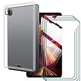 LKJMY pour iPad Pro 2021 12.90 Tablette Coque + 4 Pièces Vitre Protecteur,Transparente Case...