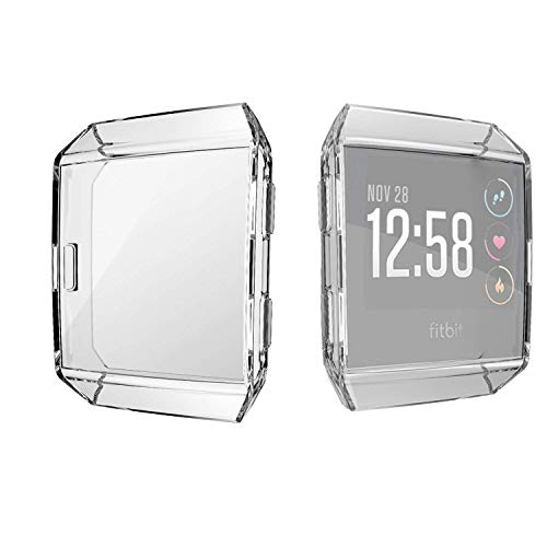 Jvchengxi für Fitbit Ionic Bildschirmschutz Hülle, TPU Schutzfolie Allro&-Schutzhülle High Definition Clear Superdünne Schutzhülle für Fitbit Ionic Smart Fitness Watch (Klar)