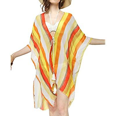 Womens Blouse Kimono Casual Front Cardigan Loos...