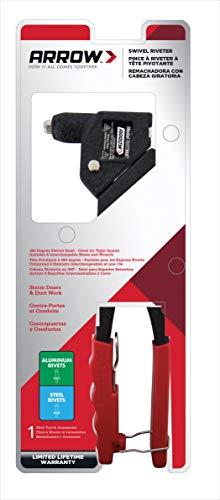 Arrow Fastener RHT300 Professional Swivel Head Rivet Tool, Red