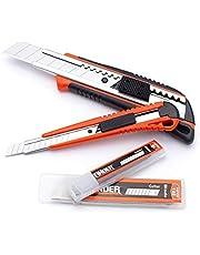 FINDER DJ191779P verktygskniv, Snap Off Blade knivar set med 20 st blad för kontor Home Art Crafts
