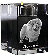 Chow Chow, Crystal Candlestick, Candle Holder with Dog, Souvenir, Limited Edition
