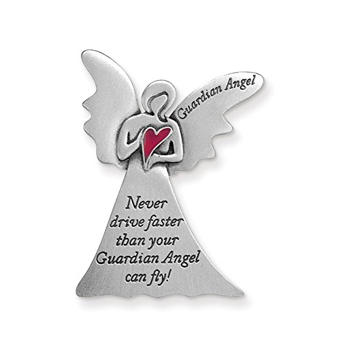 Cathedral Art KVC511 Angel Visor Clip, Never Drive Faster, 2-3/8-Inch