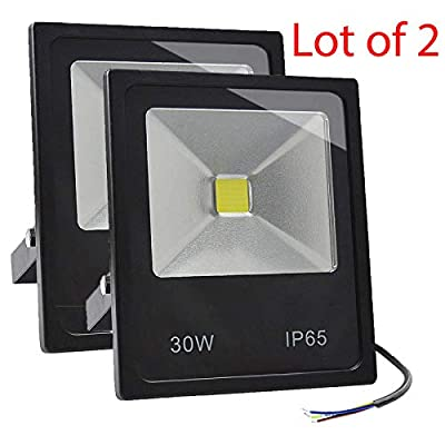 Lot 2 GLW 30w LED Flood Light 100-240V Outdoor Lamp 120° IP65 WARM WHITE 3000K