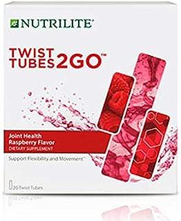 Nutrilite Twist Tubes 2GO – Joint Health Raspberry Flavor - 20 Twist Tubes
