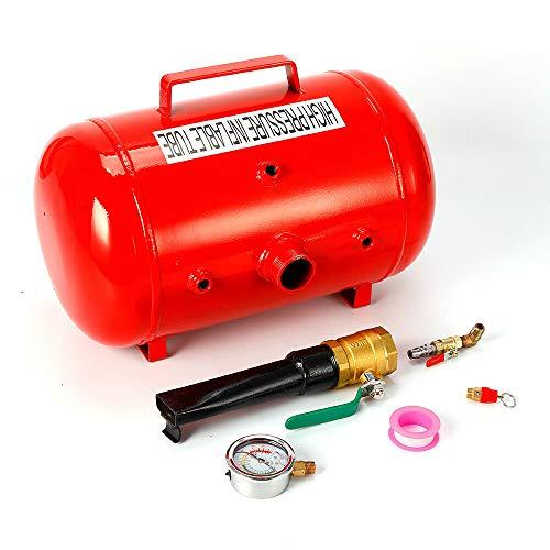 Detalles del inflador de neumáticos, ayuda para inflado de neumáticos, 20 l, 10 bar