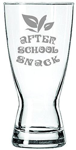 Nach der Schule Snack 15Oz Bier Glas Geschenk für Lehrer, Professor, Instructor oder Student.