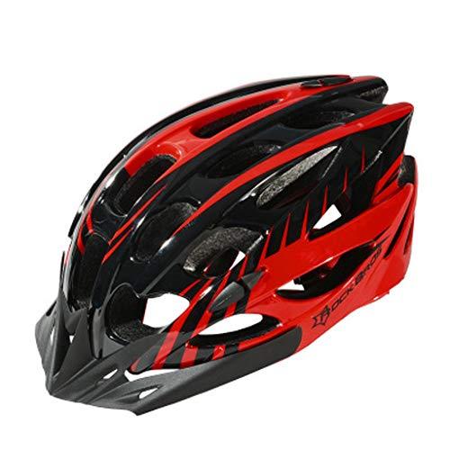 JM- Erwachsene Fahrradhelm Ultra leichte Einteilige Mountainbike Rennradhelm Männer und Frauen Reithelm
