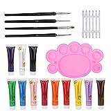 Set de arte de uñas de manicura básica, Rhinestones de color Herramientas de arte de uñas Polvo de uñas Polaco Herramientas de herramientas de plástico