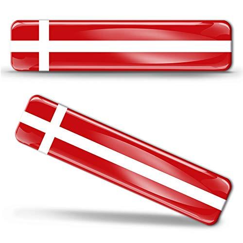 2 x sticker 3D gel siliconen stickers Denmark vlag Denemarken vlag vlag vlag vlag autosticker F 6