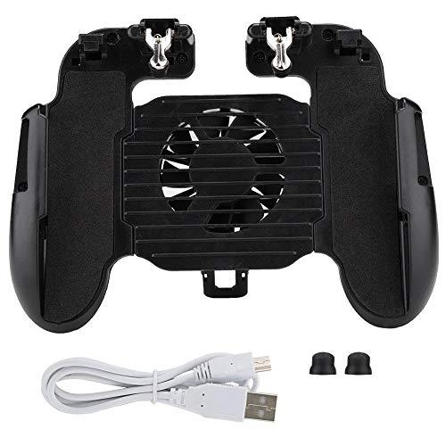 Byged Mobiler Controller mit Lüfter, Wärmeableitungstelefon Gamepad Gaming Trigger Joystick Remote Grip für iOS & Android 6,5-Zoll-Smartphone