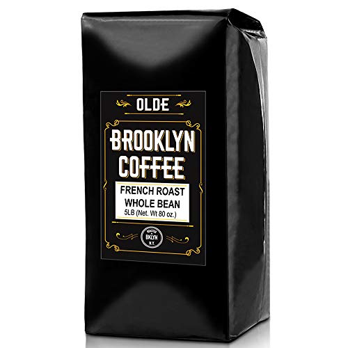 FRENCH ROAST Whole Bean Coffee - 5LB Bag | For A Classic Black Coffee, Breakfast, House Gourmet, Italian Espresso - Roasted in New York