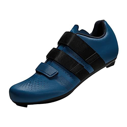 Santic Zapatillas Ciclismo Hombre Calzado Ciclismo Hombre Carretera Zapatillas Bicicleta Azul EU 43