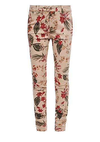 s.Oliver RED Label Damen Regular Fit: Chino mit Blumenmuster beige AOP Flowers 44.32