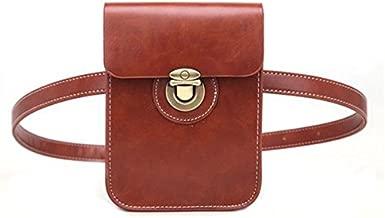 Woman Girl Purse Bag Pocket Fanny Pack Mini Wallet Purse Phone Bag Waist Casual Bag Alleviate Burdens on Shoulder Brown BW006
