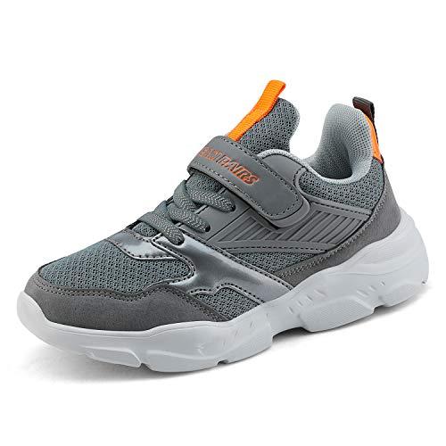 DREAM PAIRS Boys ZP19001K Tennis Running Shoes Athletic Sneakers Grey Orange Size 11 M US Little Kid