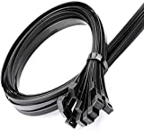 Heavy duty Zip ties 28inch Zip tie Large Cable Wire Ties With 120 Pounds Tensile Environmentally friendly Industrial quality Uses 4 latches for stronger locks,40 pack Black