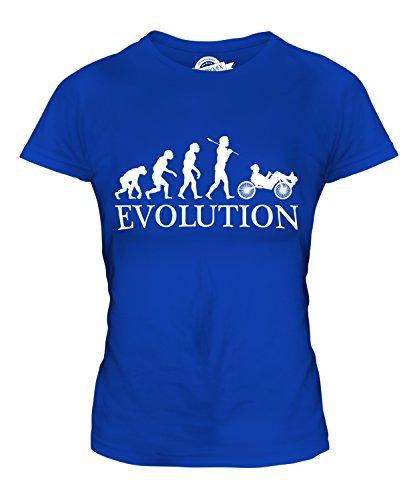 Candymix Liegerad Evolution des Menschen Damen T Shirt, Größe Large, Farbe Königsblau