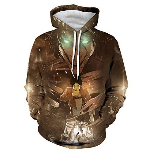 CHENMA Men Attack on Titan 3D Print Pullover Hoodie Sweatshirt with Kangaroo Pocket