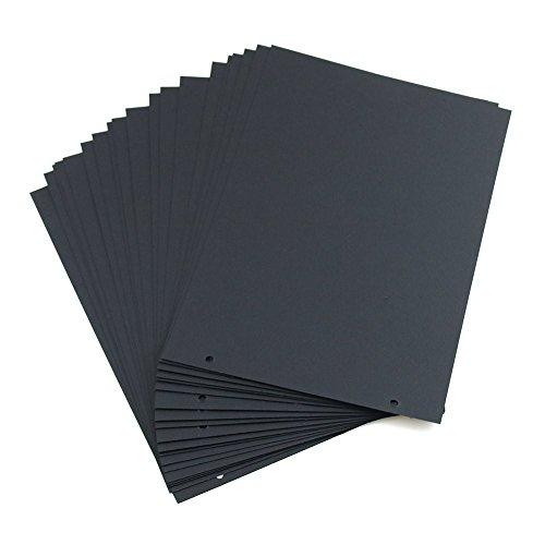 Miteux Fotoalbum om zelf vorm te geven in Duitse lettertekens, doe-het-zelf houten deken, fotoalbums, scrapbook, album, zwarte pagina's om in te plakken Zwarte bladzijden