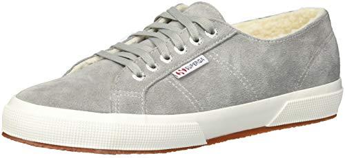 Superga Women's 2750 SUEFURW Sneaker, Grey Suede, 37 M EU (6.5 US)