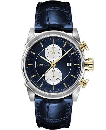 Versace Reloj de Pulsera para Hombre Chrono Urban 44 D/BLU S/BLU SS V2