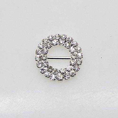 Lot de 30 coussinets 20 mm x 20 mm forme ronde strass Boucle coulissant pour mariage Invitation Lettre