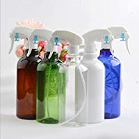 スプレーボトル ミストスプレー 分割ボトル 大容量 水まき缶 500ml 茶色のボトル本体 白いノズル