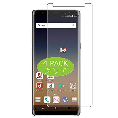 VacFun 4 Piezas HD Claro Protector de Pantalla Compatible con Samsung Galaxy Note 8 SC-01K docomo/SCV37 au Note8, Screen Protector Sin Burbujas Película Protectora (Not Cristal Templado) New Version