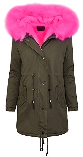 Rock Creek Selection Winter Parka Jacket dames jas XXL bontkraag damesjack warm gevoerd D-256 S-XL