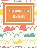 Attendance Log Template: Clouds Wallpaper Design