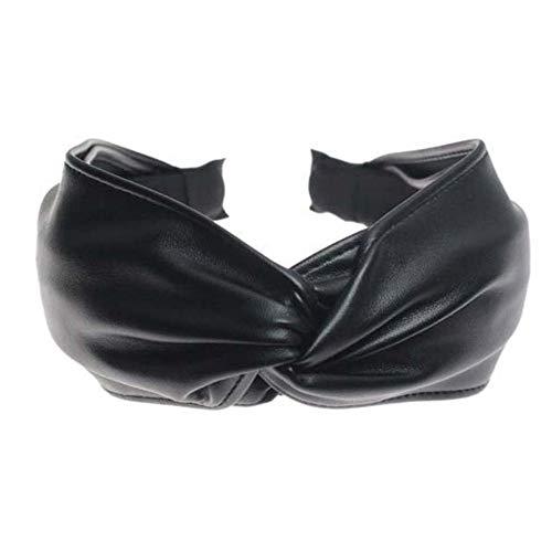 Pinces À Cheveux Barrettes Headbands Et Serre-Têtes Bohème Vintage En Cuir Noir Grand Noeud Noué Grand Bandeau Serre-Tête Accessoires Pour Cheveux