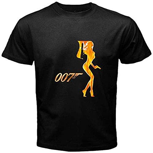 New James Bond 007 UK Agent Movies Pierce Brosnan Men's Black T-Shirt S to 3XL_2944