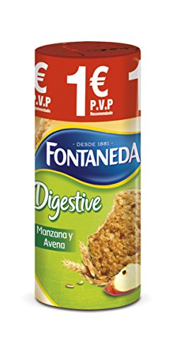 FONTANEDA galletas digestive manzana y avena paquete 225 gr