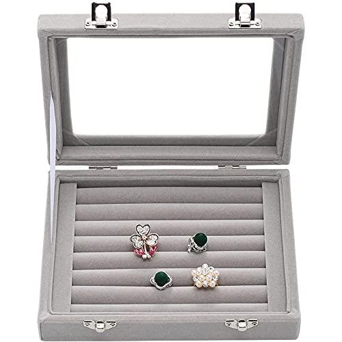 Joyero para mujer, organizador de joyas, caja de almacenamiento, anillos, pendientes, collares, pulseras