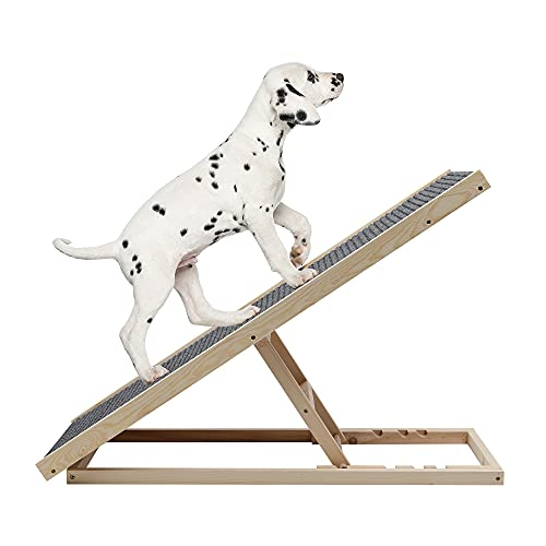 TOLEAD Rampa plegable para perros y gatos, de madera, , con superficie...