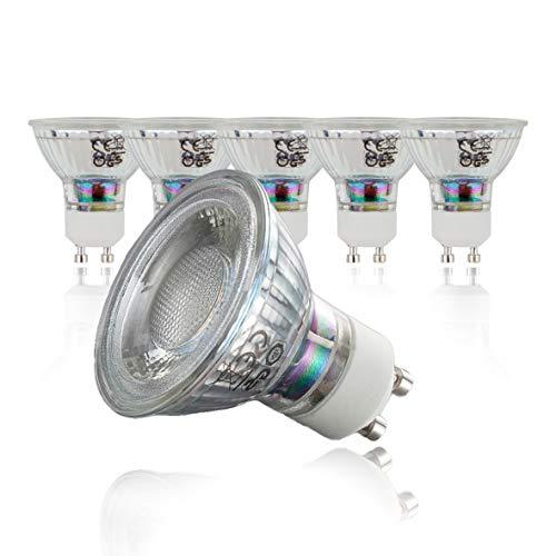 B.K.Licht 5er Set 5W LED Lampen I Ersetzt 50W Halogenlampe I Leuchtmittel mit GU10 Fassung für innen I Energiesparende Birne in Reflektor-Form I 400 Lumen I 3000K warmweiss[Energieklasse A+]