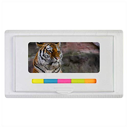 Azeeda 'Resting Tiger' Sticky Note Ruler Pad (ST00002112)