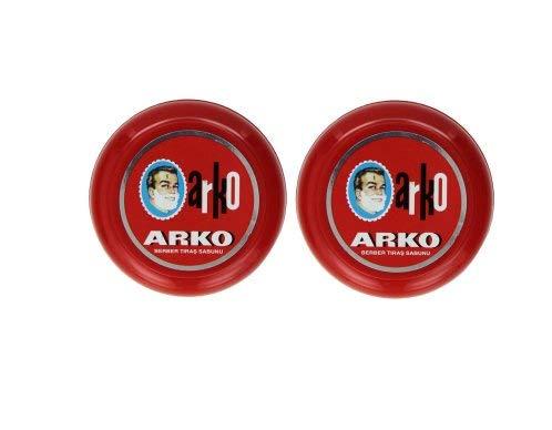 Arko Shaving Soap in Bowl, Pack of 2