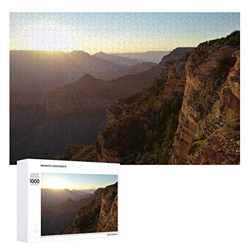 Promini Puzzle de madera de Estados Unidos Arizona Grand Canyon Clouds Lugares de interés blanco color10 1000 PCS Desafiante juego de rompecabezas divertido juguetes familiares Juegos educativos