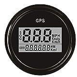 Moligh doll 52 Mm GPS Tachometer Kilometerz?hler Digital Boot Tachometer Spur 0~999 Knoten Km/H Mph für Auto Boot